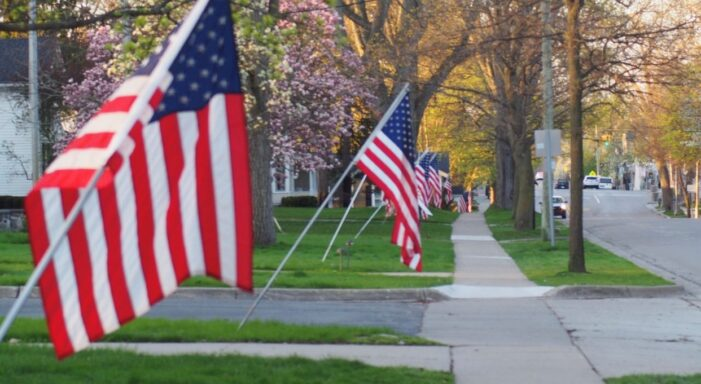 U.S. flags for the community