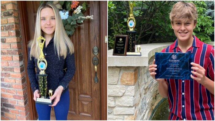 Siblings recognized as future problem solvers